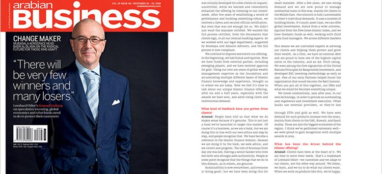Swiss role: Arnaud Leclercq shares his private banking priorities (Arabian Business)