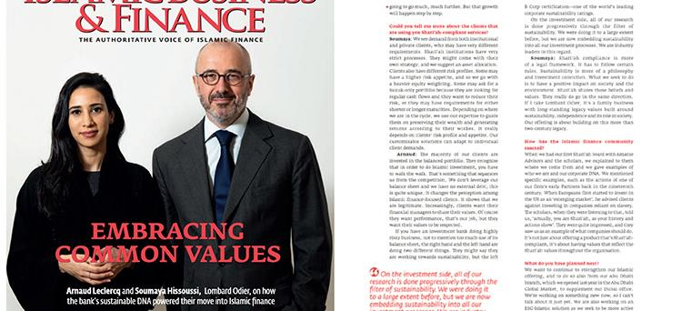 Arnaud Leclercq - Embracing common values (Arabian Business)